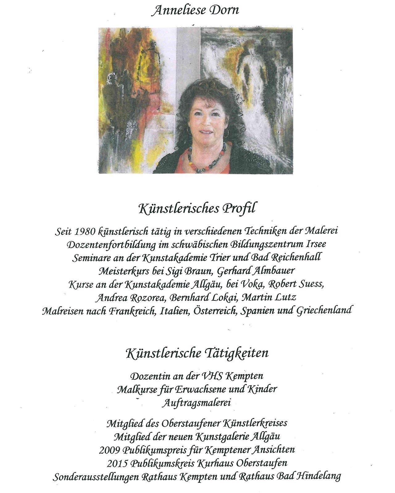 Profil Anneliese Dorn