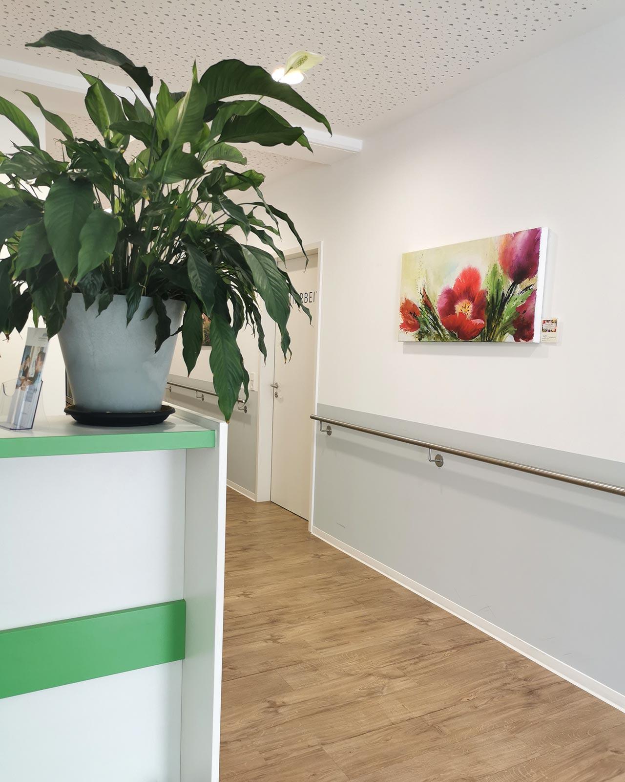 Kunstaktion TherapieCentrum Viva Kempten Allgäu